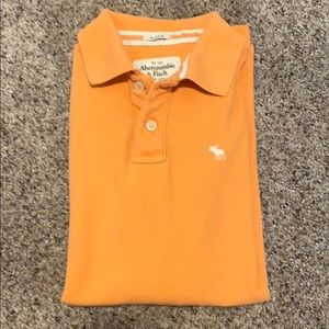 Abercrombie & Fitch Orange Muscle Polo Shirt